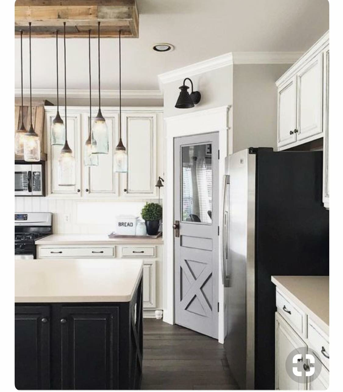 Laundry Room Pantry Ideas Benjamin Moore Antique White: Farmhouse Kitchen Cabinets