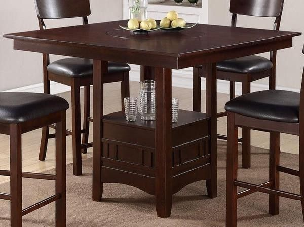 poundex furniture 5 piece counter height dining table set with