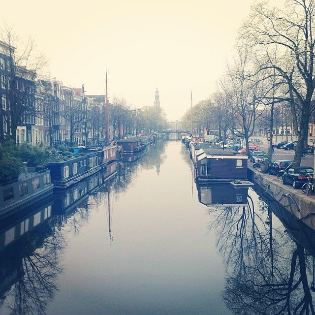 Canals by morning dawn