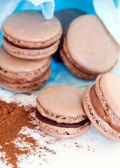 chocolate macarons; URB