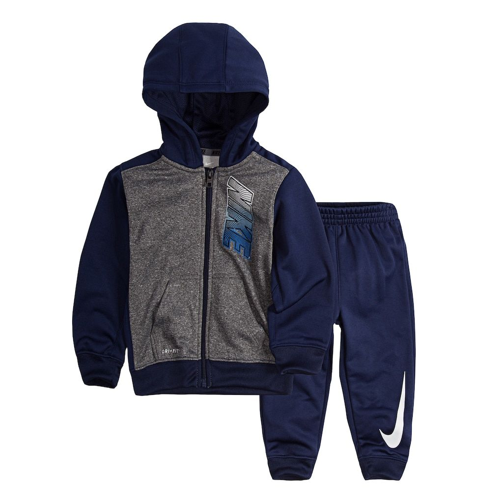 Nike therma fit zip hoodie blue gray grey