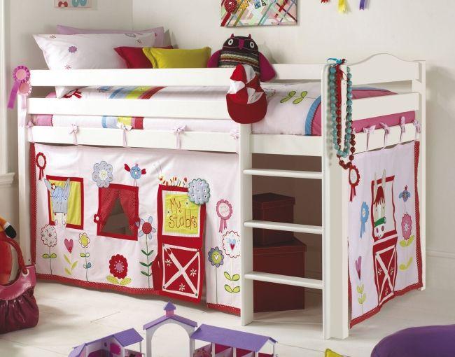 Wohnideen babyzimmer ~ Weiß rot kinderbett wohnideen für kinderzimmer universal design