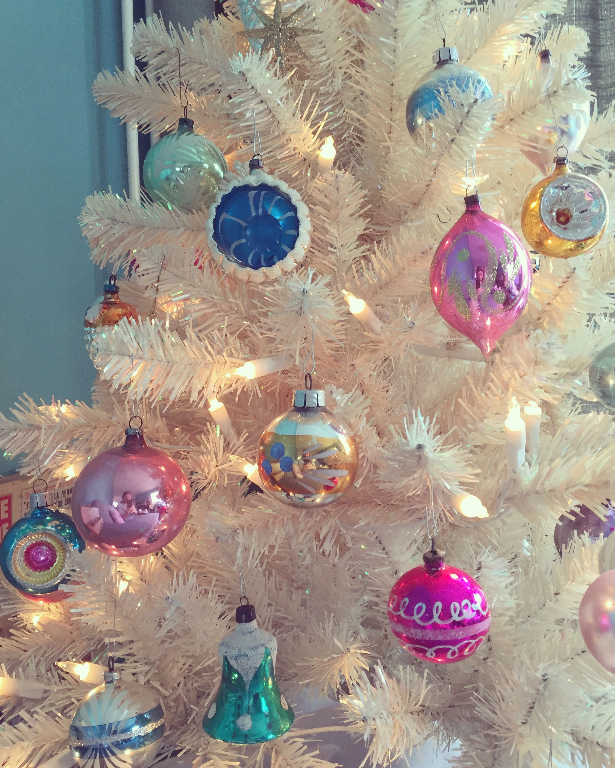 Vintage Old Christmas Ornaments Pastels
