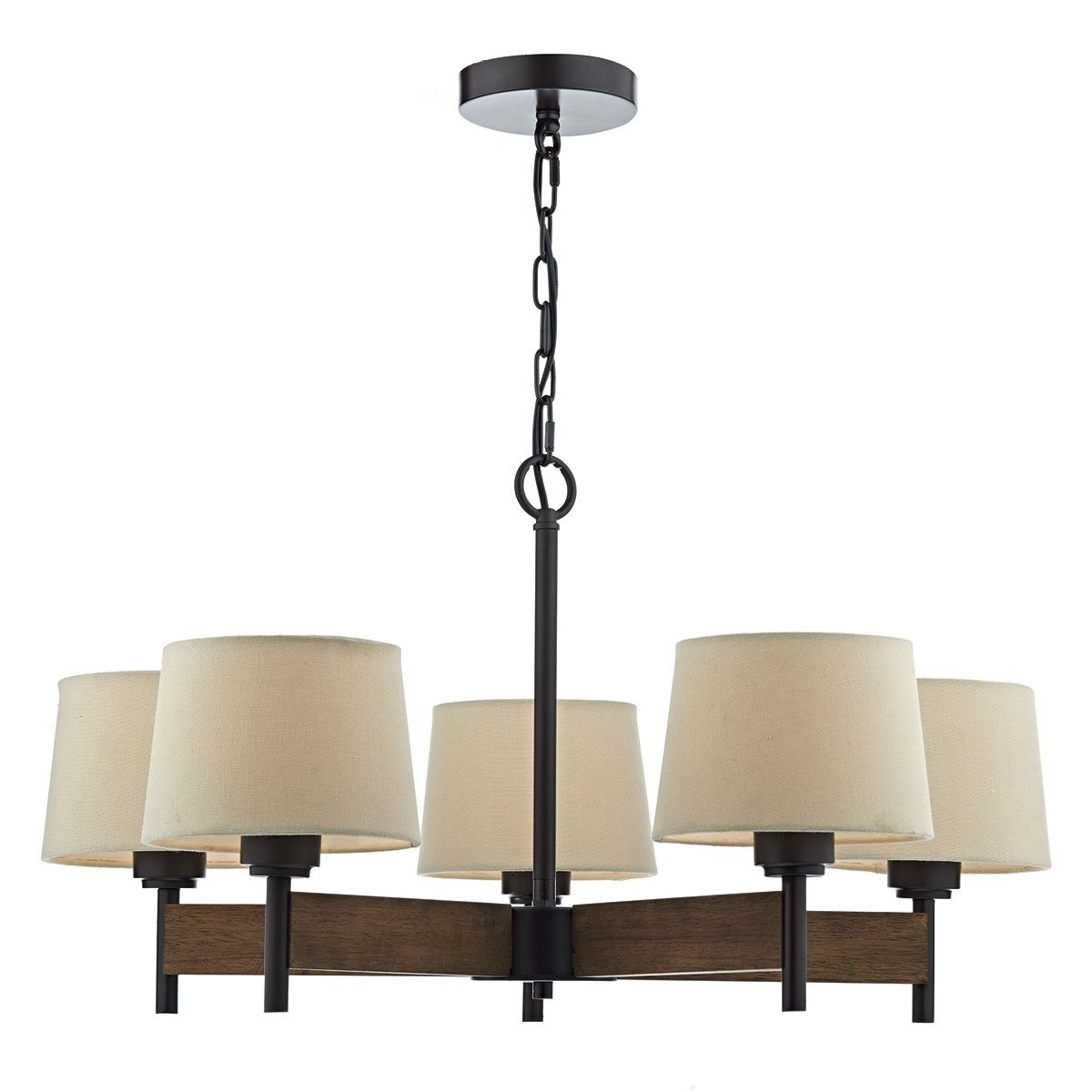 Ewan 5 Arm Pendant Ceiling Light With Shades Ewa0547