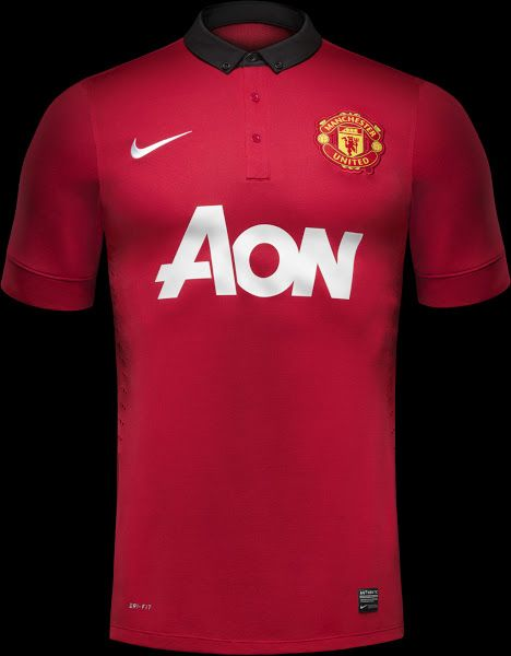 Manchester United 13 14 Home Shirt Manchester United Home Kit Soccer Outfits Manchester United
