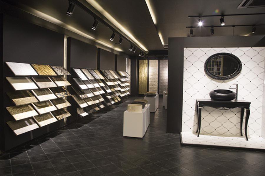 How To Decorate Ceramic Tiles Showroom Interior Design Tile