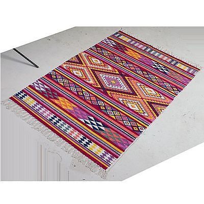 Mexican Style Recycled Cotton Rug 1 5 M X 0 9 Brand New Reduced