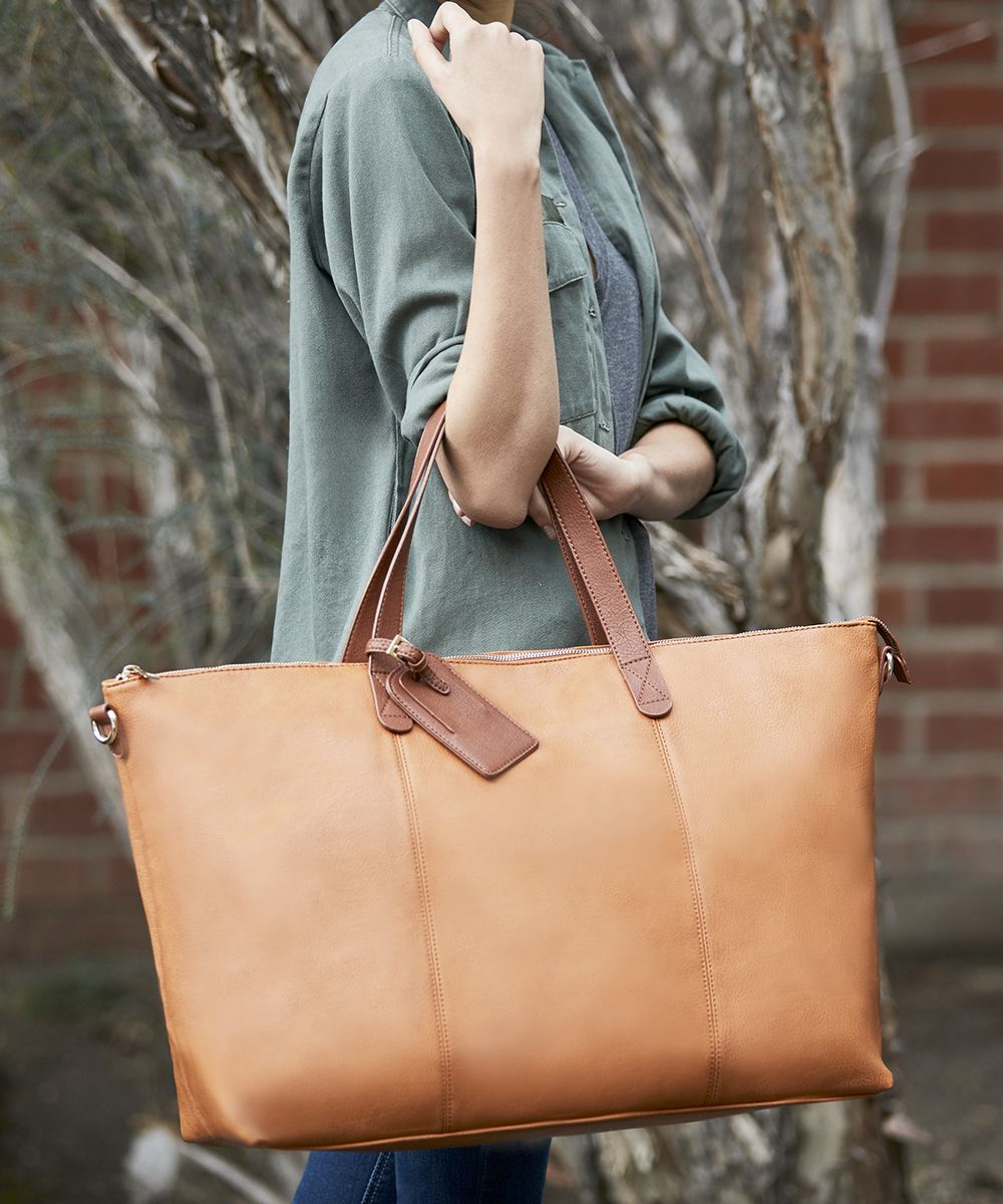 Oversized Cognac Travel Bag Sole Society Candice