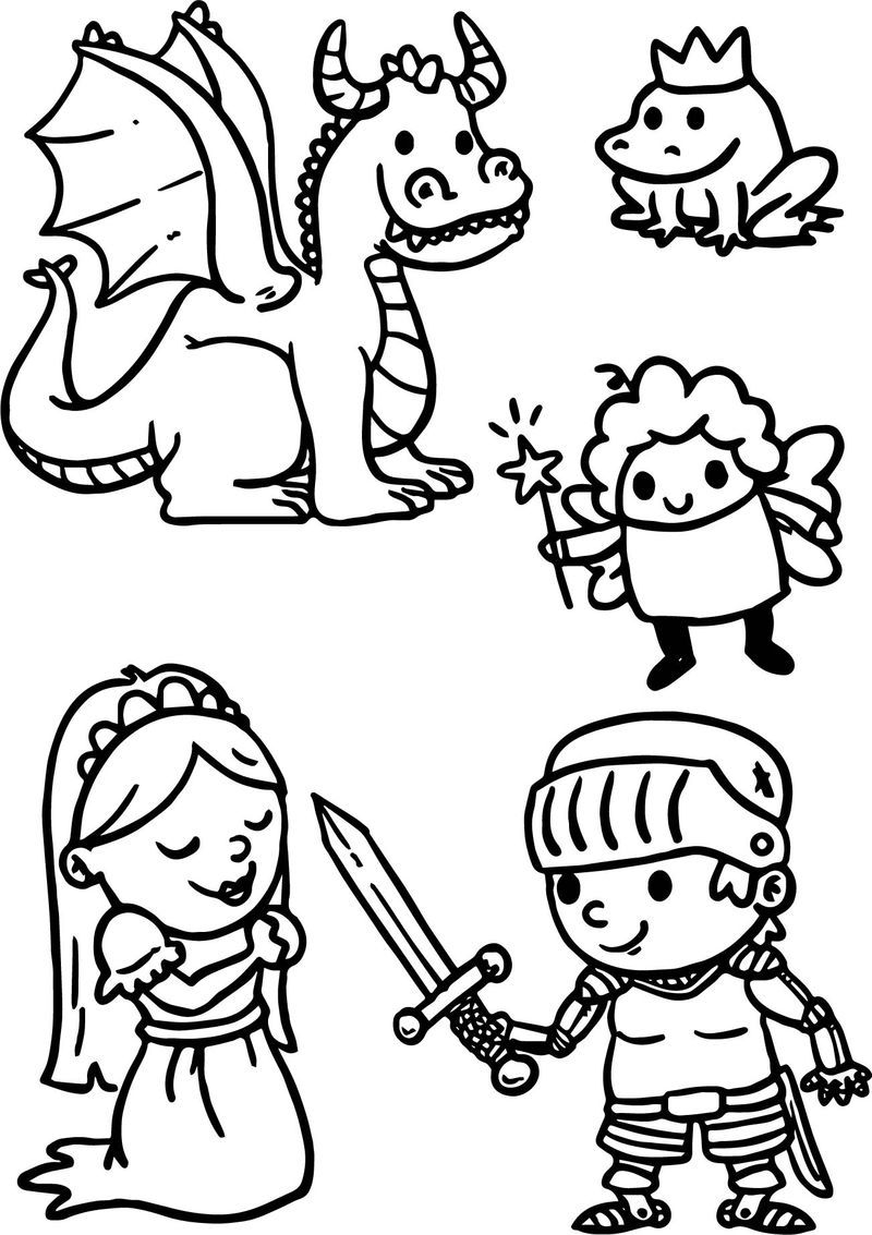 Cute Cartoons Of Fairy Tale Coloring Page in 2020 | Fairy ...