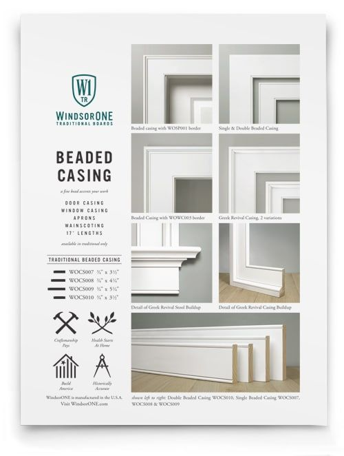 Beaded Casing Wood Trim Detail For Windows Doors More Wood Trim Moldings And Trim Interior Trim