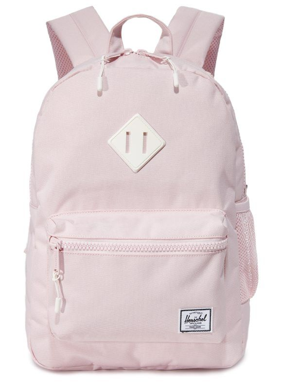 819594bcbe80 exclusive heritage backpack by Herschel Supply Co.. A pastel-pink Herschel  Supply Co. backpack with a mesh side pocket. A two-way zip opens to reveal  the ...