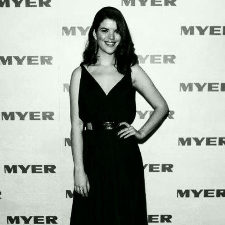 Emma at the Myer Collection Launch.