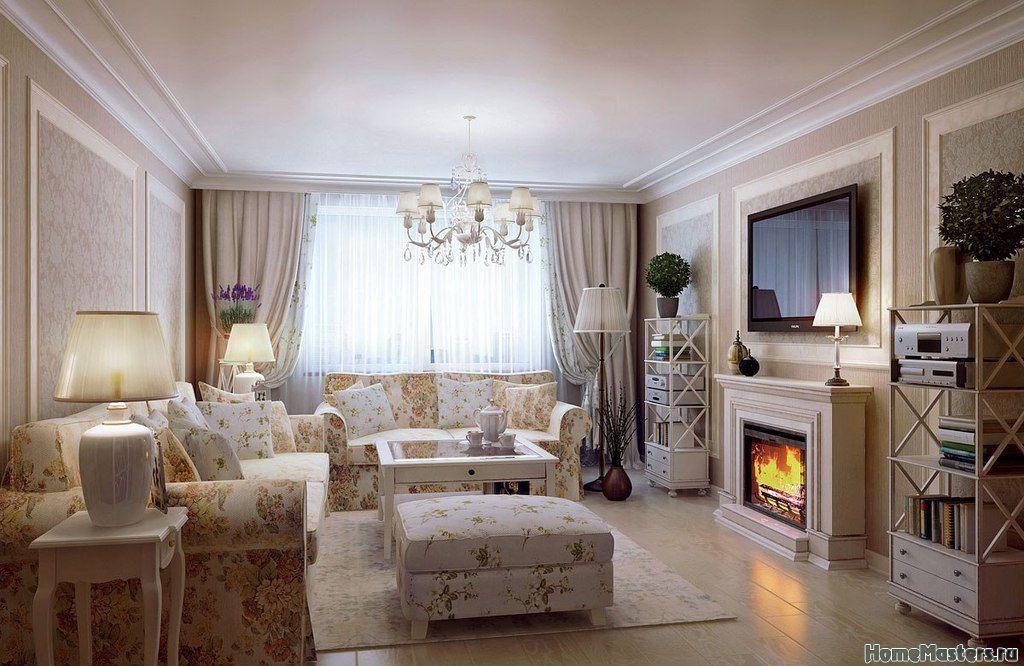 фото гостиная с камином