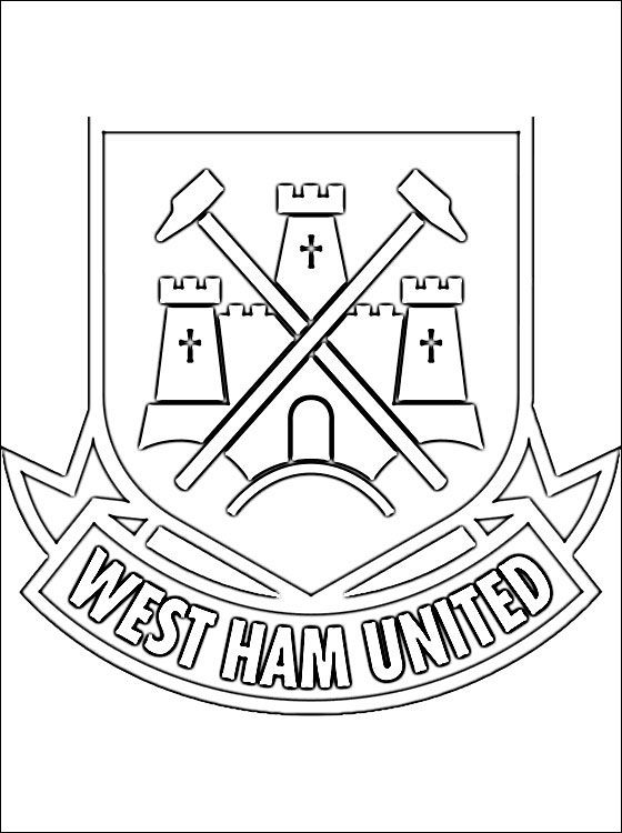 West Ham United F C Coloring Page Coloring Pages Coloring