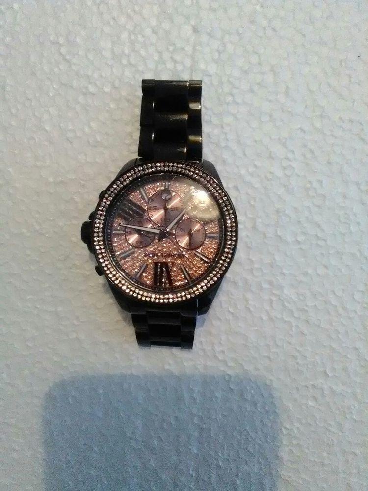 7db1904f5302c Micheal Kors Wren Rose Gold Paved Stone Women's Watch MK5879.. Beautiful.