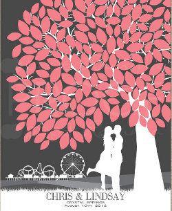 Hochzeitsbaum Als Gästebuch Paperramma Etsy
