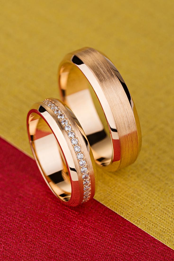 Rose Gold Wedding Bands In 2020 Matching Wedding Bands Wedding Band Sets Wedding Ring Bands