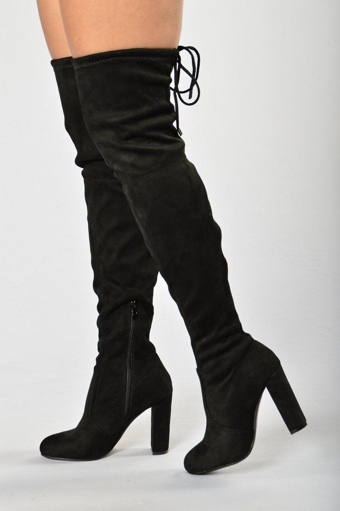 ceb0e471c29 High Rise Heel - Black | Clothes_Shoes | Black high boots, Boots ...