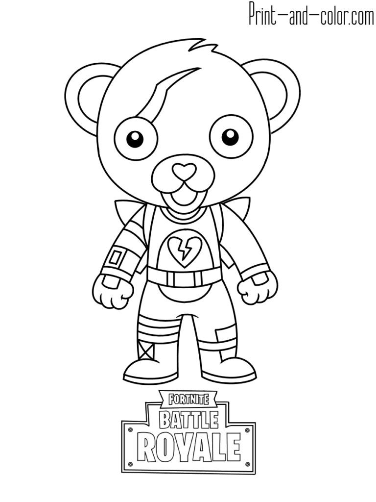 Fortnite Coloring Pages Print And Color Com Coloring Pages For Boys Coloring Pages Bear Coloring Pages