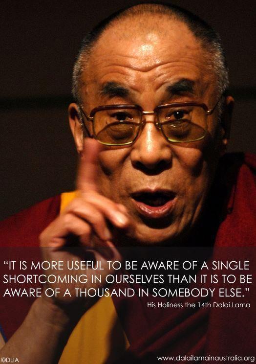 Dalai Lama - start with you first.