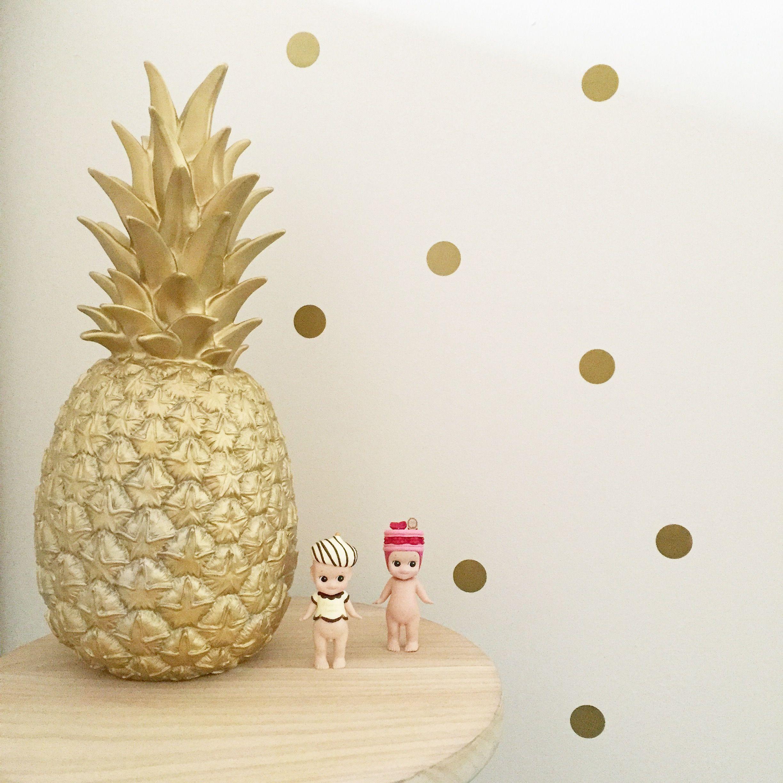 Fun Lamp metallic pineapple lamp (silver, copper, gold) - goodnight light