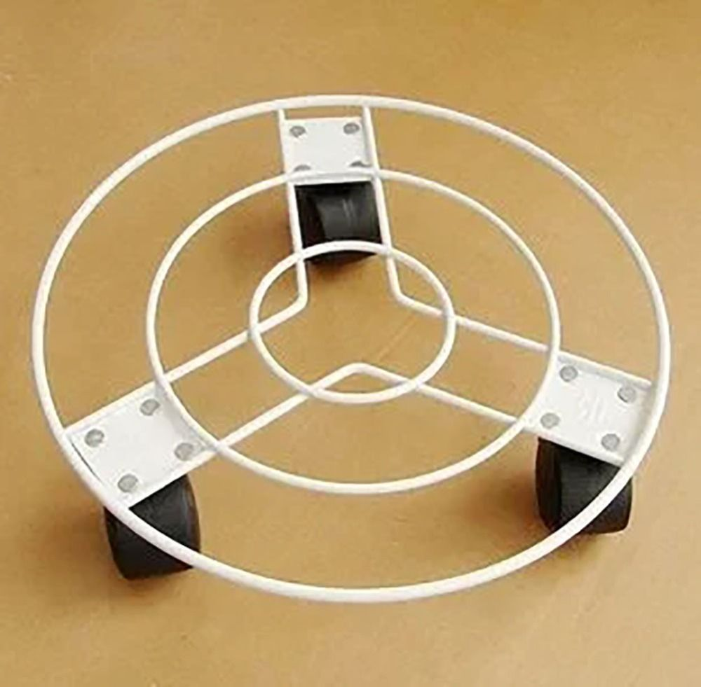 InchCM White Deluxe Heavy Duty Plant Saucer Caddy White