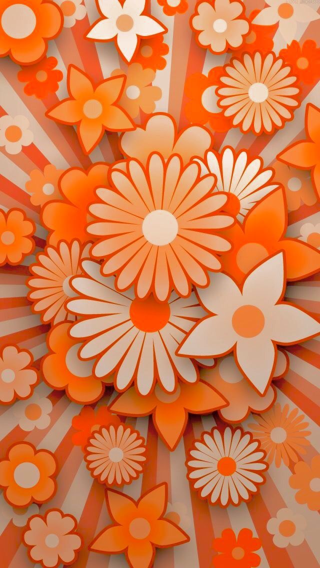 Orange Flowers Iphone Wallpaper Orange Orange Wallpaper Iphone Wallpaper