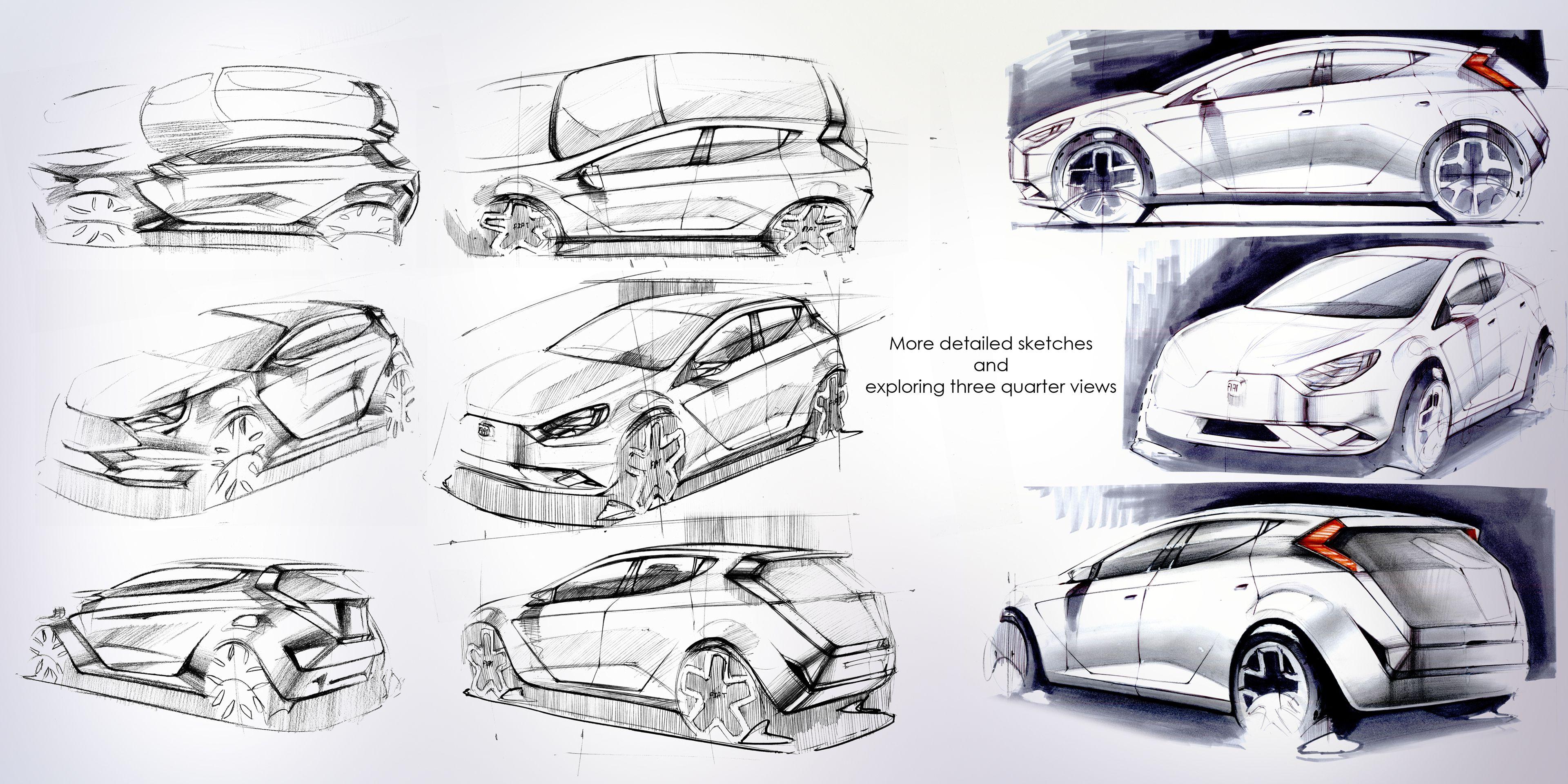 To Redesign Fiat Punto Fo 2020 Transportation Design Design Sketch