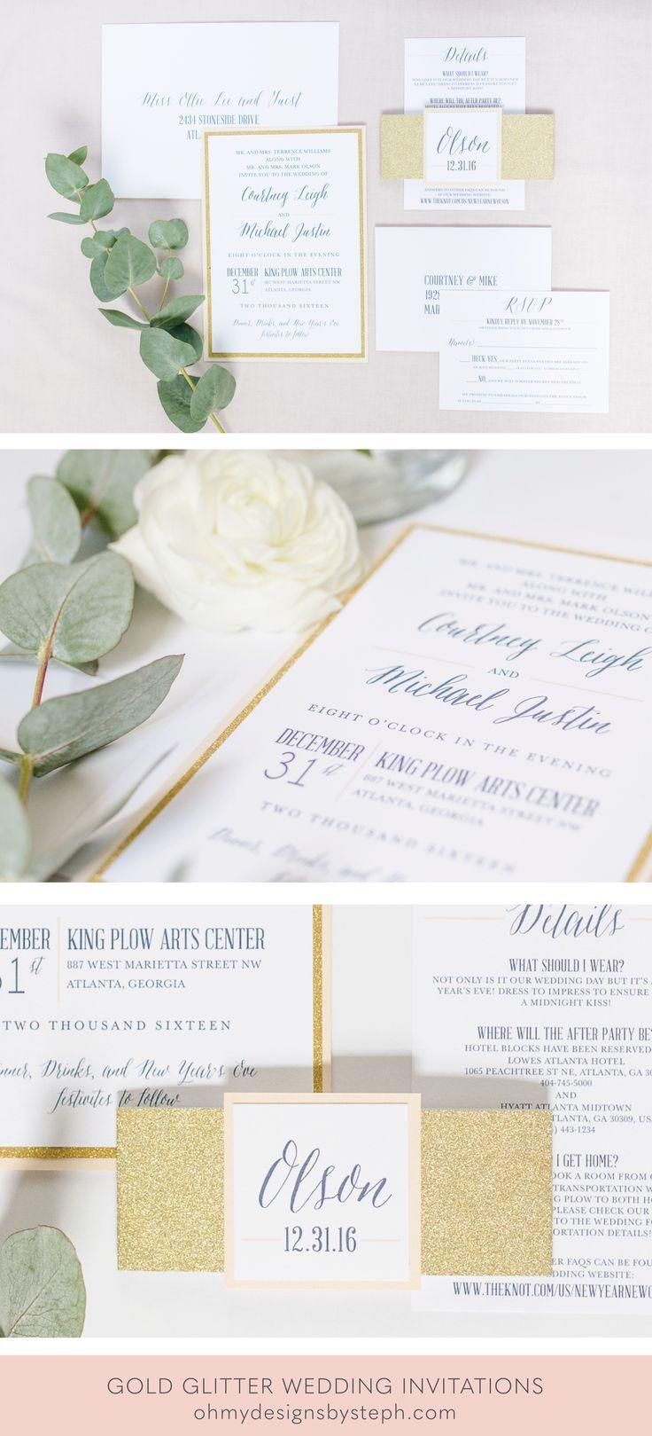 Glitter Glam Wedding Invitations   \'Wedding Ideas & Wedding Tips ...