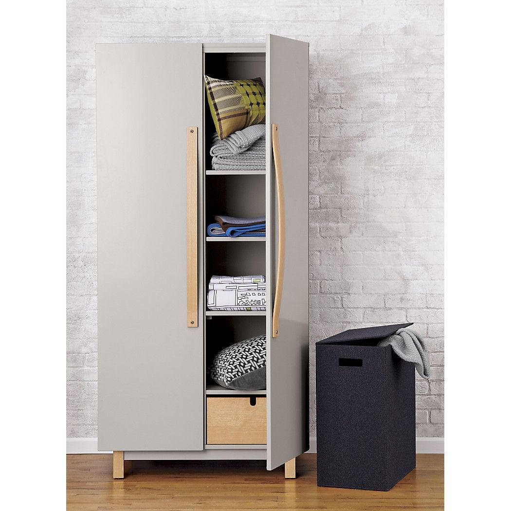 Charcoal Felt Hamper Clothes Hamper Modern Bathroom Accessories Storage