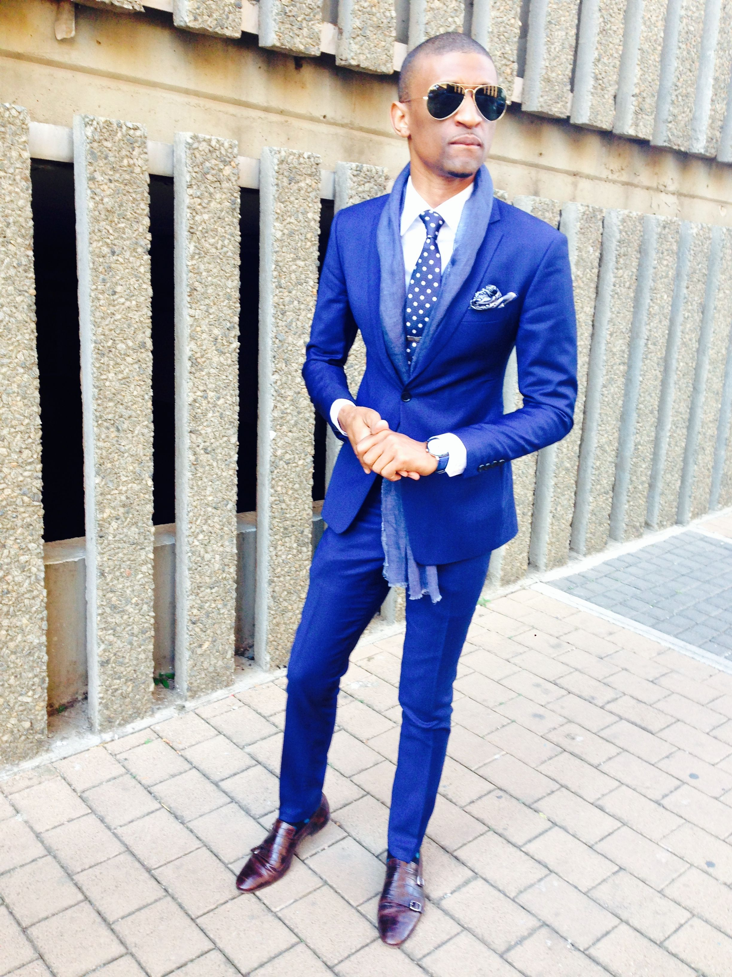 6ad1b5407006c LINDA MAKHANYA in a Blue Suit - LM TAILORED SUIT | LM TAILORED in ...