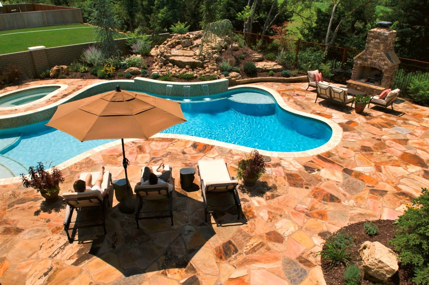 Above ground pools decks idea with cool wooden pool - Beautiful above ground pools ...