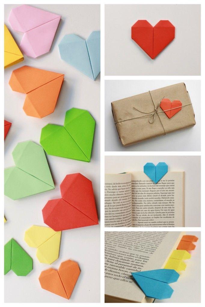 Corazón de papel. Tarjeta de San Valentín Origami | http ...