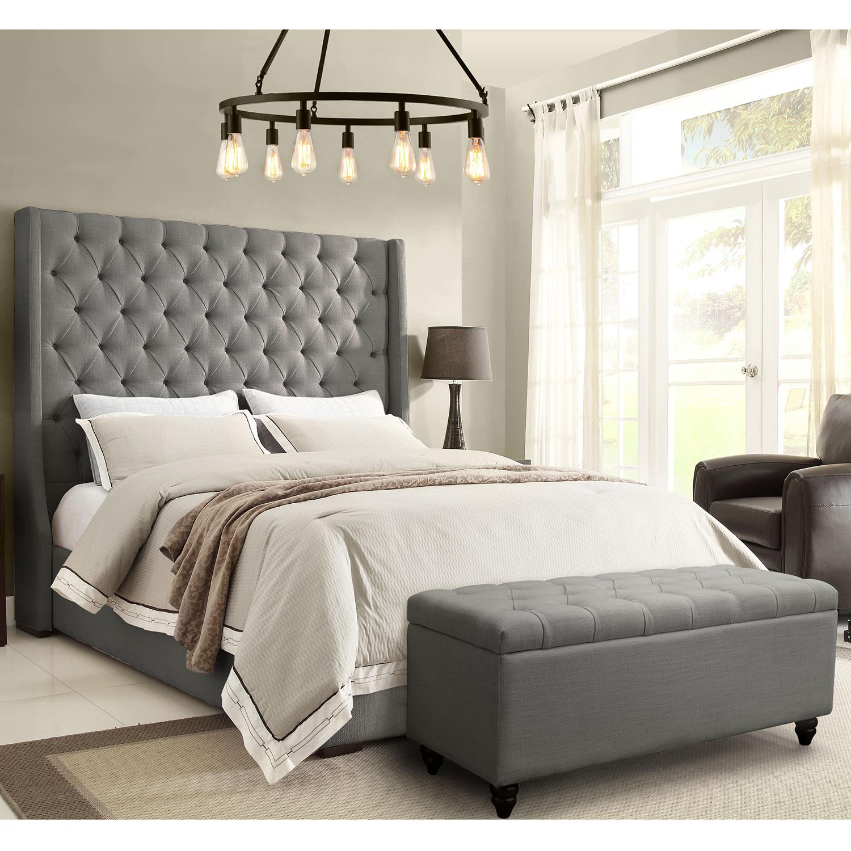 Diamond Sofa Parkavegrqubed Park Avenue Queen Tufted Bed Vintage