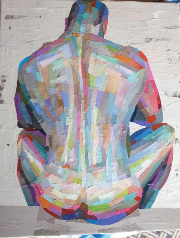"Artist: Dimosthenis Prodromou; Paper, 2011, Assemblage / Collage ""untitled """