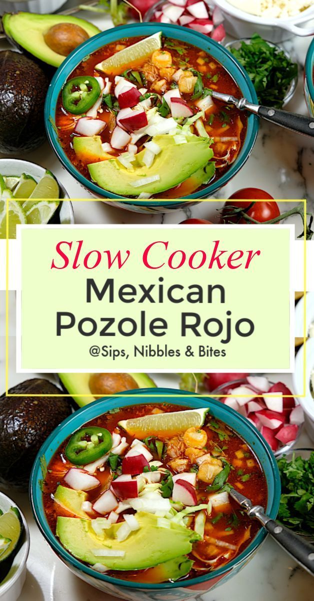 Photo of Slow Cooker Mexican Pozole Rojo #mexicanrecipeswithchicken Pozole Rojo is a rich…