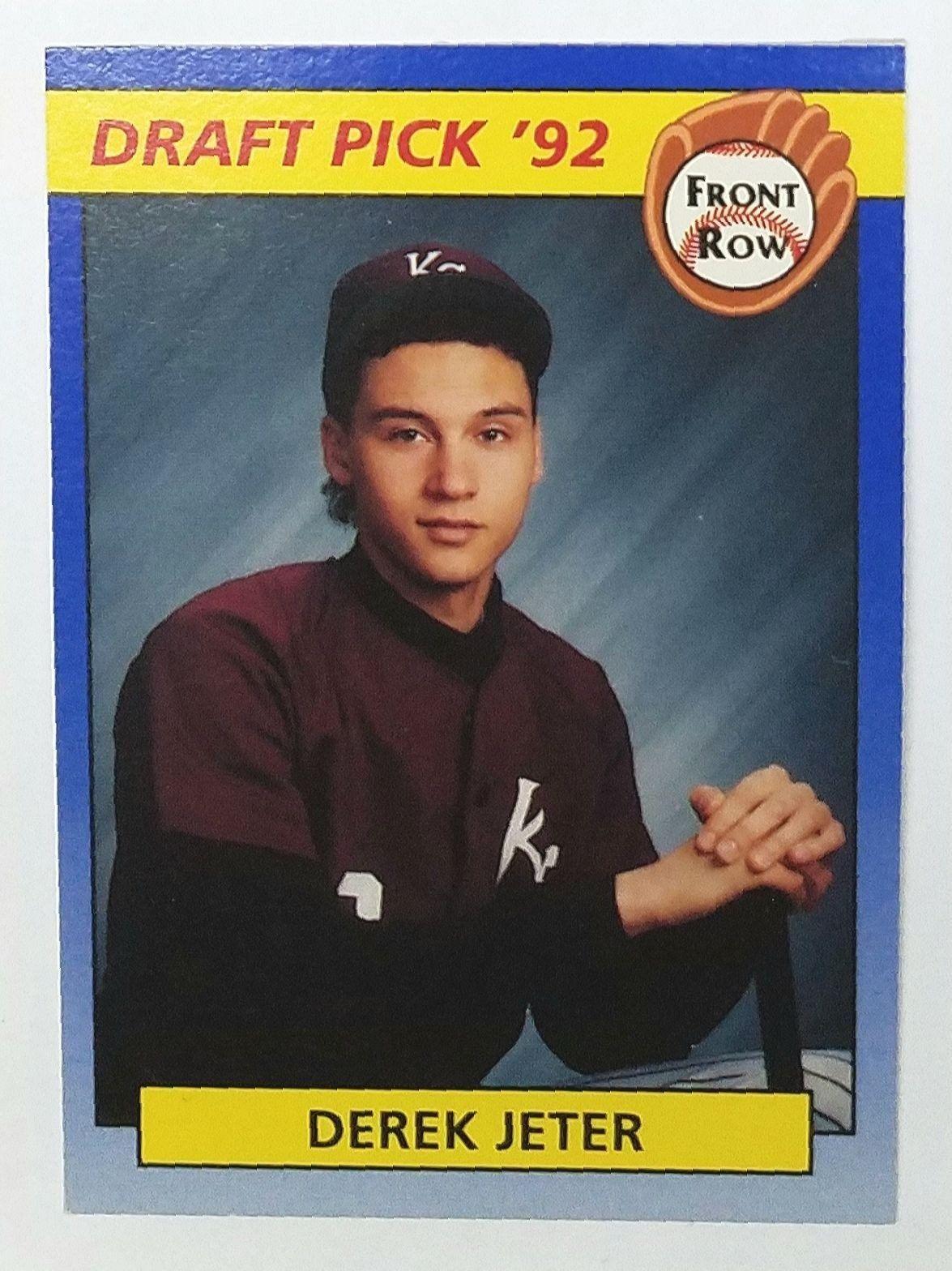 Derek Jeter Rookie Card 1992 Front Row 55 Draft Pick 92 Yankees Rc