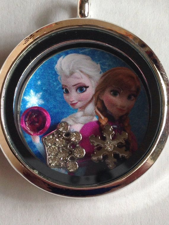Disney's frozen floating charm locket--Elsa and Anna