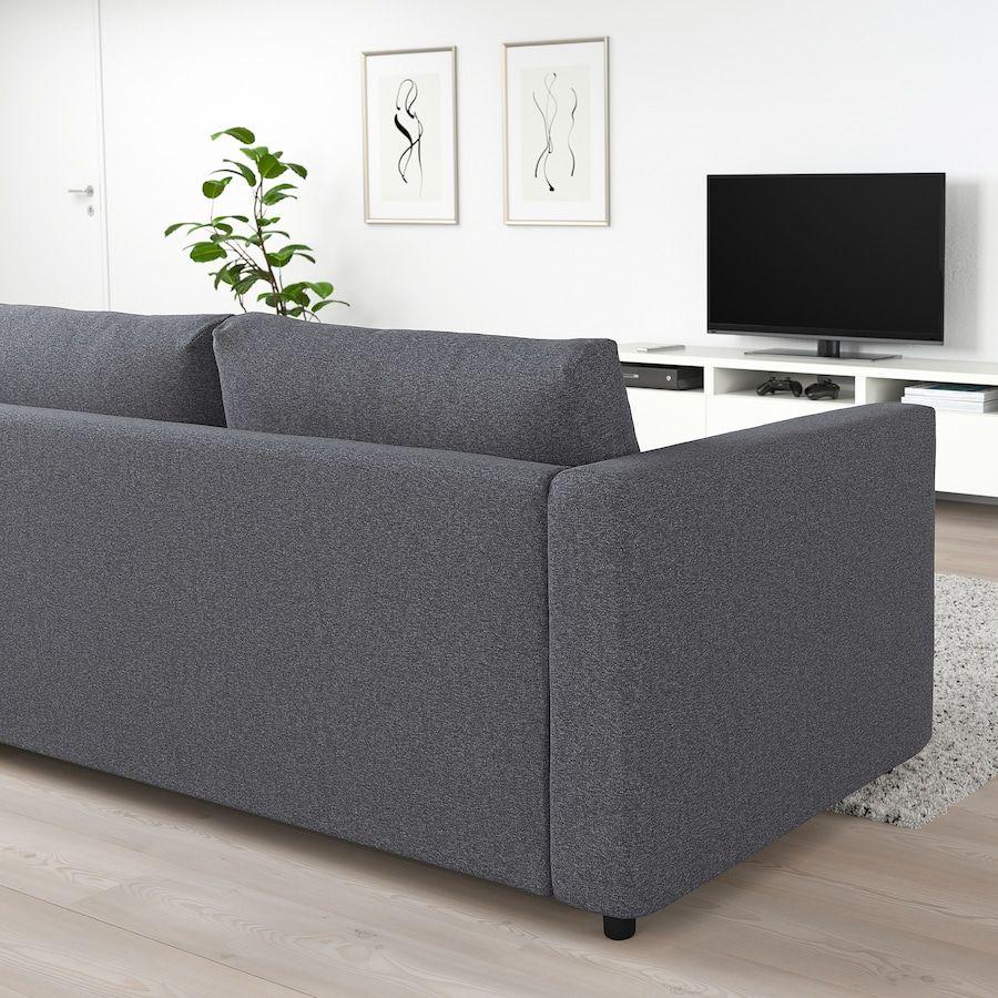 Vimle 2er Bettsofa Gunnared Mittelgrau Ikea Osterreich In 2020 Bettsofa 3er Sofa Sofa