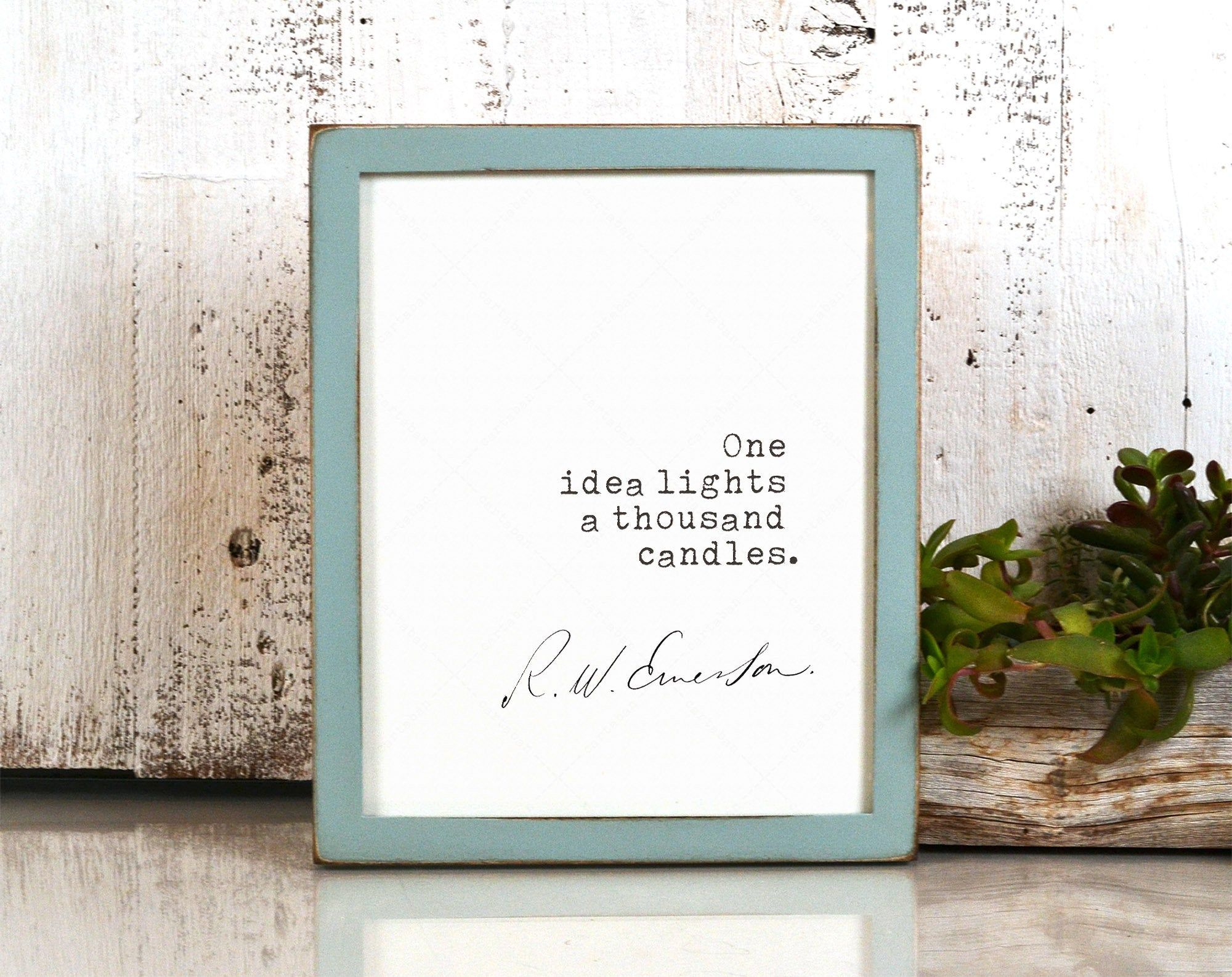 Ralph Waldo Emerson Quote Poster, book lovers gifts, digital download print, printable poster