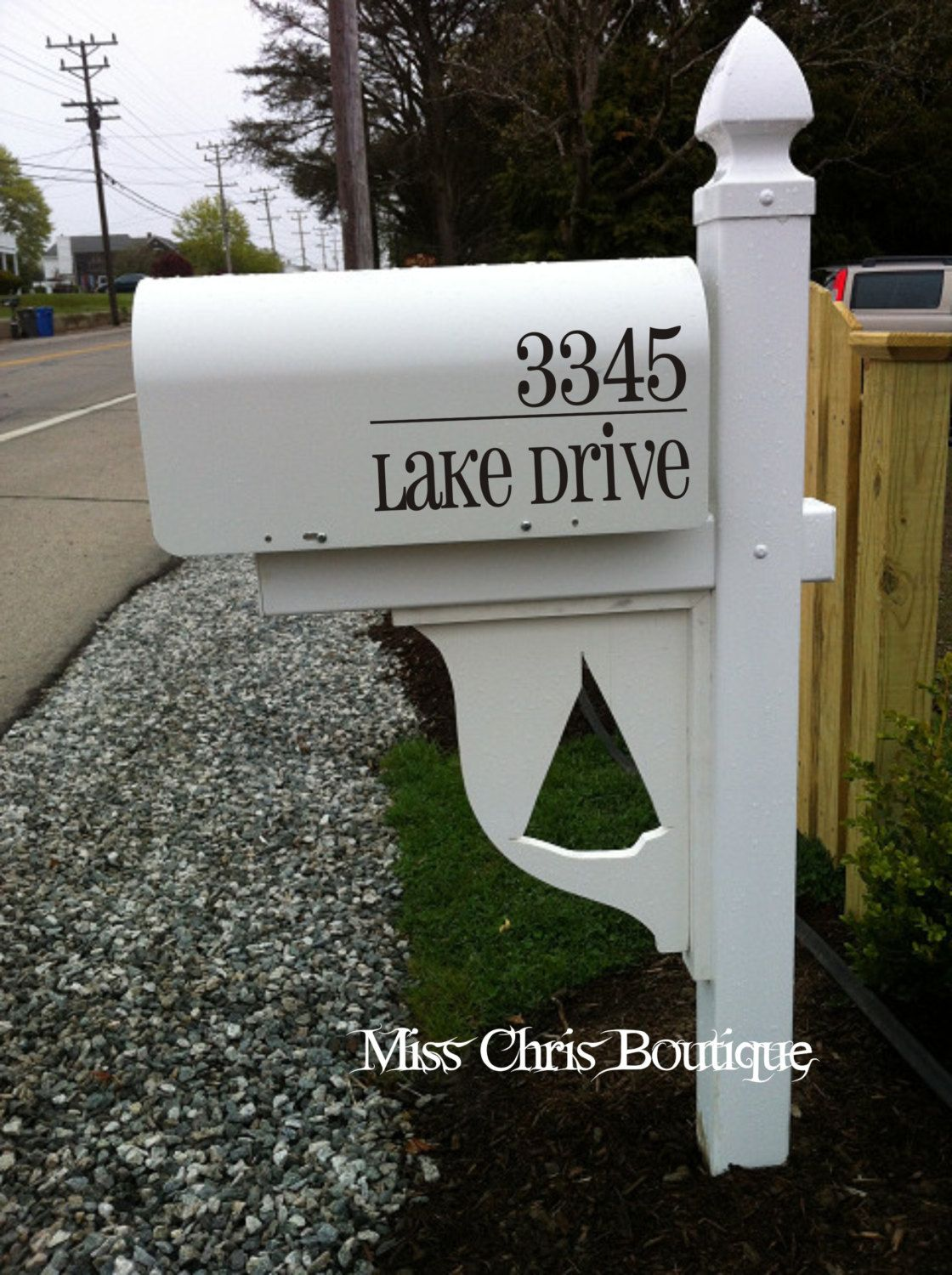 Mailbox Decal Custom Vinyl Mailbox Address Numbers With Street - Custom vinyl decals numbers