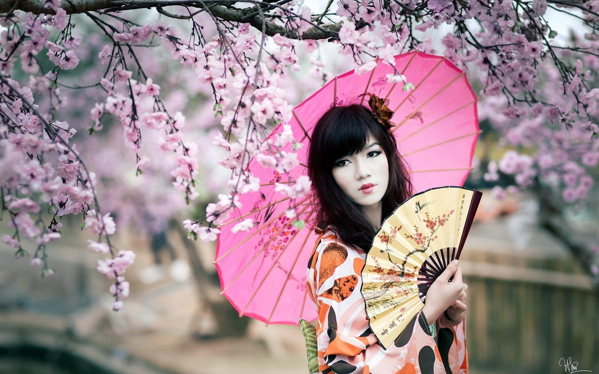 время городских красивые японки с зонтами картинки крыша