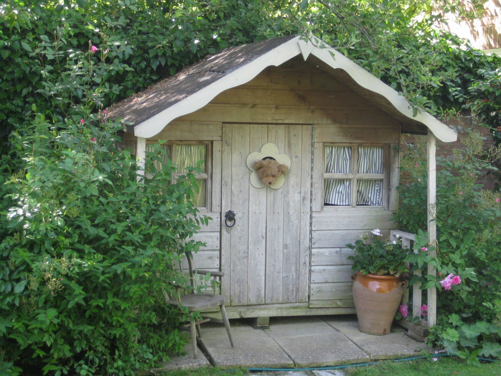 pretty garden shed garden behind the old coach house which has very