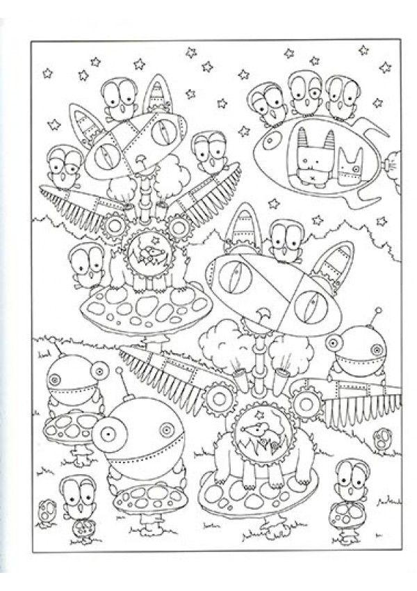 Coloriage Mandala Monstre.Un Lot De 2 Livres De Coloriage Creatif Et Relaxant Pour Petits Et