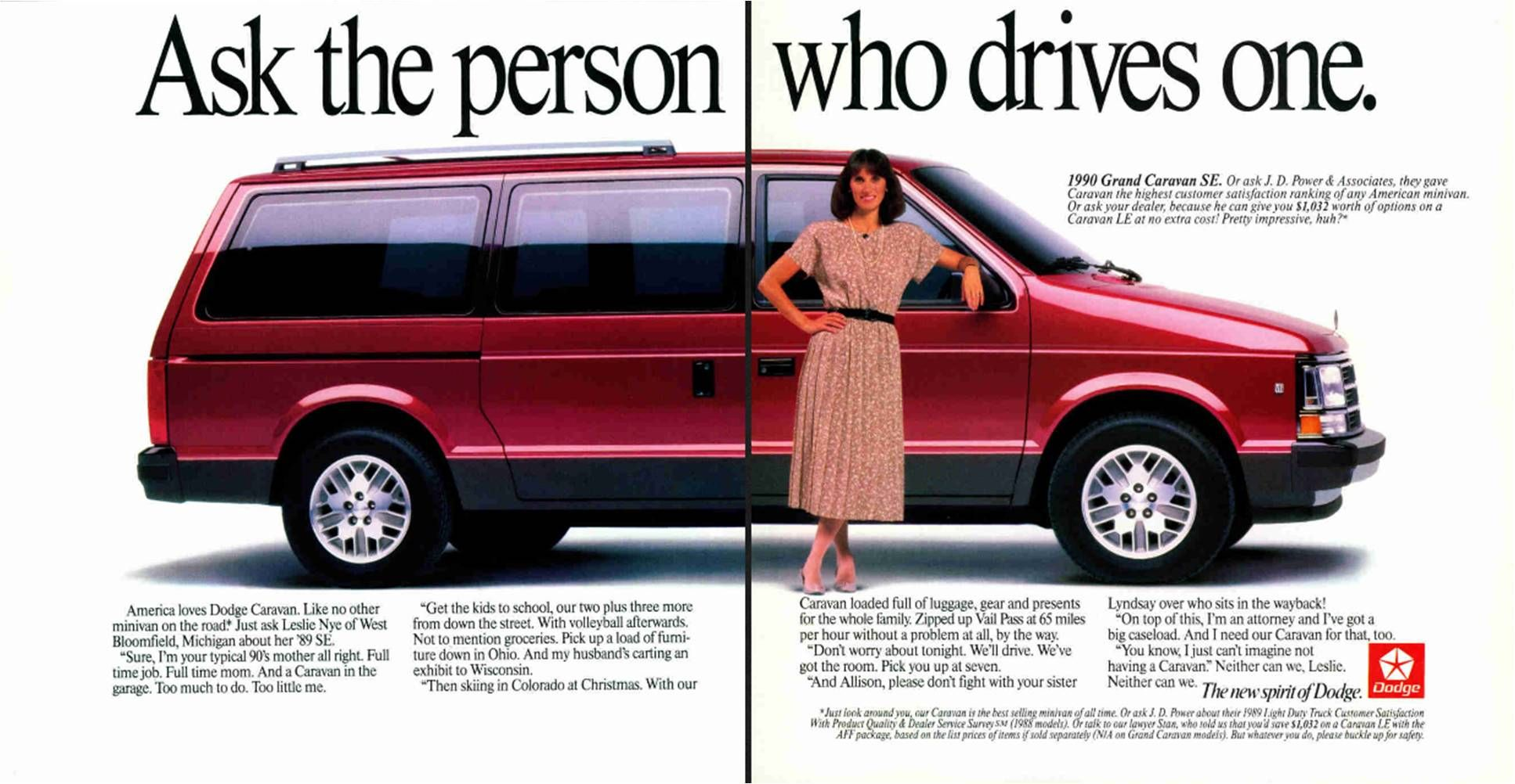 1990 Dodge Grand Caravan Ad Our S Was Blue Metallic With