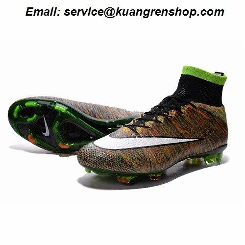 cd5ed02af Deliver Nike Mercurial Superfly 4 FG flyknit rainbow brown black white  Soccer Cleats