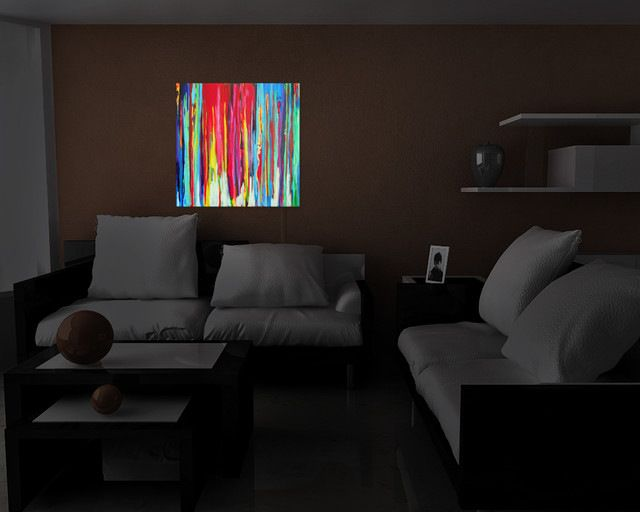 Neon Abstract Illuminated Wall Art contemporary-prints-and-posters