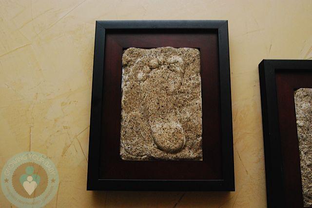 Mother\'s Day Craft Idea: DIY Framed Hand/footprint | Diy frame ...