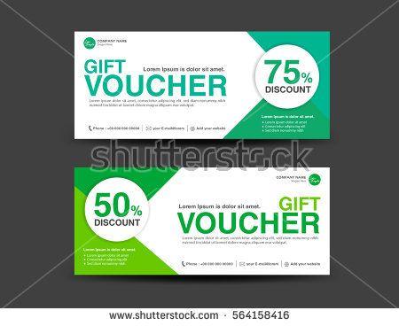 Green Discount Voucher template, coupon design, Gift, ticket, banner - payment voucher template