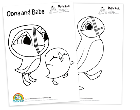 puffin rock coloring pages